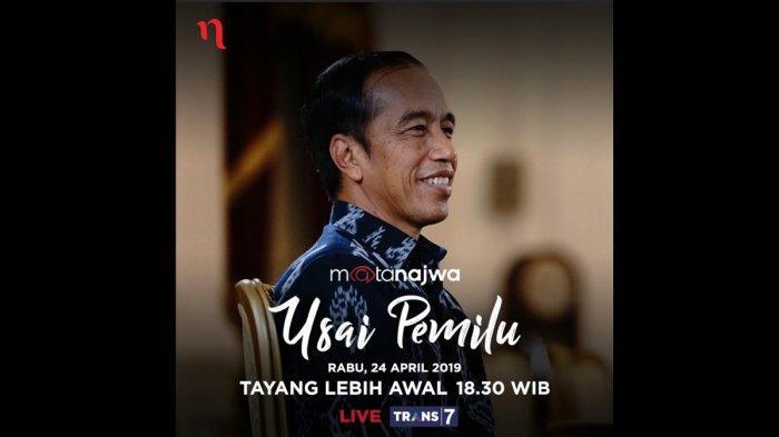Jokowi Blak-blakan di Mata Najwa, dari Deklarasi Kemenangan Prabowo sampai Penolakan Utusan