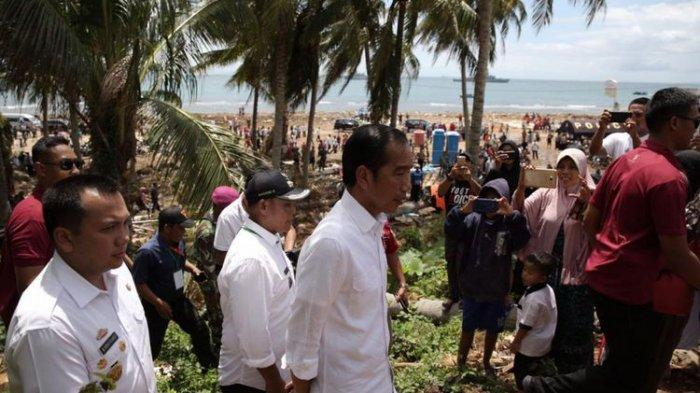 Jokowi Janji akan Merelokasi dan Merehabilitasi Rumah Terdampak Bencana Tsunami Selat Sunda
