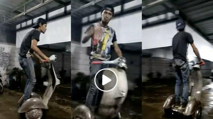 Video Viral, Pria asal Bandung Ciptakan Vespa Segway Elektrik, Produksi Sendiri tapi Biaya Terbatas