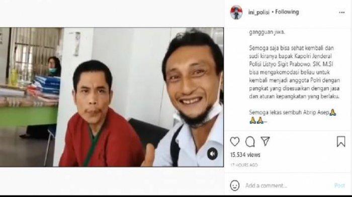 Tangkapan layar di Instagram soal sosok pria di RS Jiwa Zainal Abidin yang disebut-sebut mirip Bharaka Asep yang hilang pada Tsunami ACeh 2004
