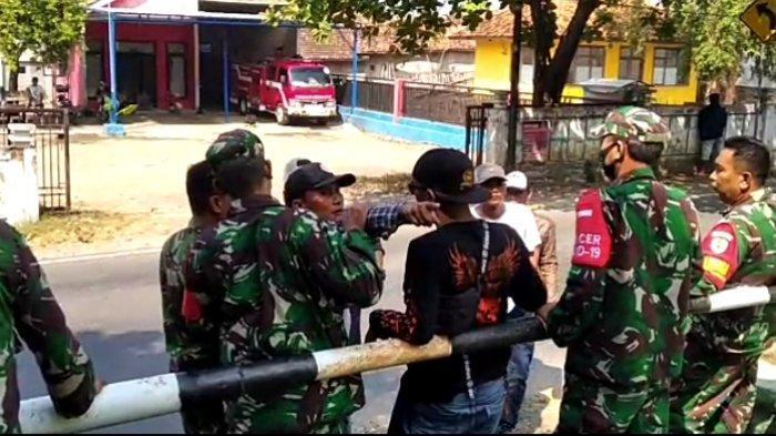 Dadang Buaya Cs saat mendatangi Koramil Pameungpeuk, Jumat (28/5/2021).