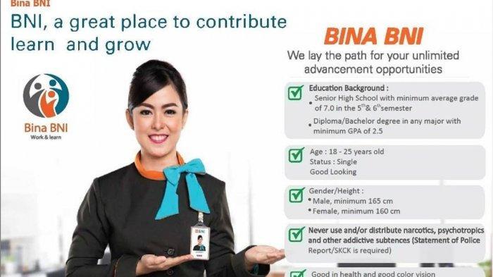 Lowongan Kerja Terbaru Bank BNI, Buat Lulusan SMA hingga S1, Berikut Link Pendaftarannya