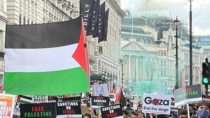 200 Ribu Warga London Turun ke Jalan, Prihatin Tragedi Kemanusiaan di Palestina dan Kecam Israel