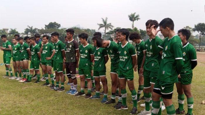 Tim PSKC Kota Cimahi dalam latihan sebagai persiapan menuju Liga 2.