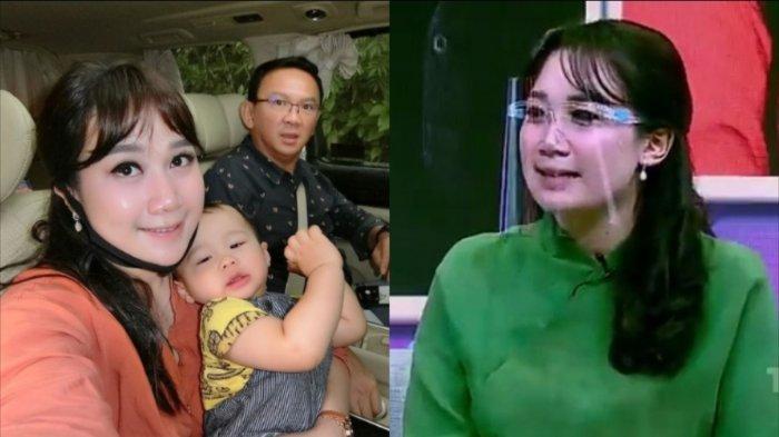 Istri Ahok BTP, Puput Nastiti Devi saat muncul di TV (sebelah kanan). (Instagram/btpnd)
