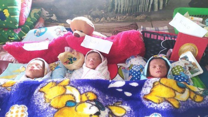 Bantuan Mengalir untuk Bayi Kembar Tiga di Cisolok Sukabumi, Dapat Susu dan Popok