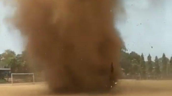 Tersebar di Media Sosial, Angin Puting Beliung Berputar di Situ Patenggang