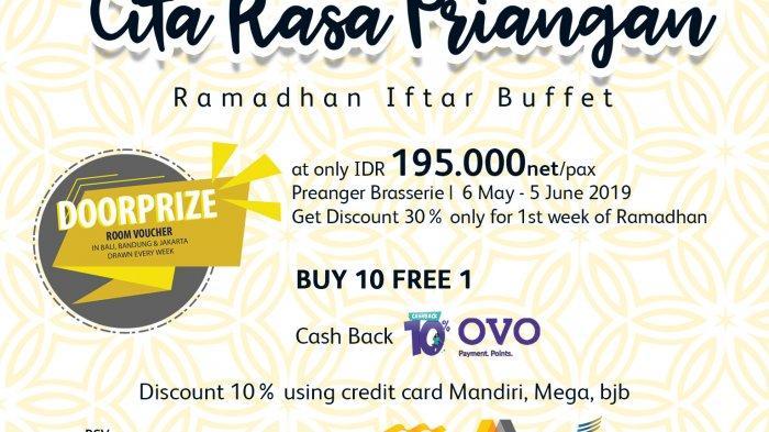 Cita Rasa Priangan Ramadhan Iftar Buffet di Prama Grand Preanger Hotel Bandung