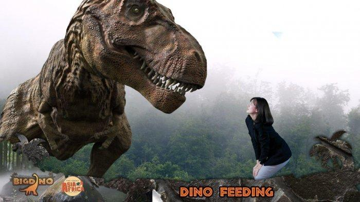 Rasakan Sensasi Menyuapi Dinosaurus di Big Dino Feeding Dinosaurus The Great Asia Afrika Lembang