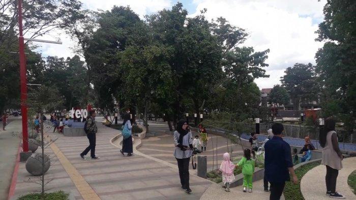 Baru Dua Hari Diresmikan, Pengunjung Taman Alun-alun Regol Bandung Keluhkan Hal Ini
