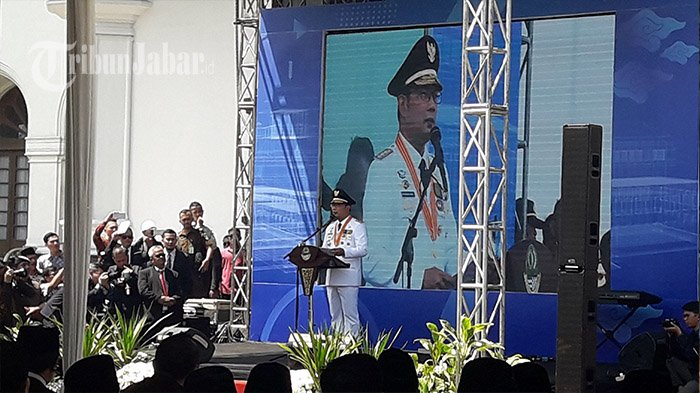 Resmi jadi Gubernur Jabar, Ini Pidato Pertama Ridwan Kamil di Gedung Sate