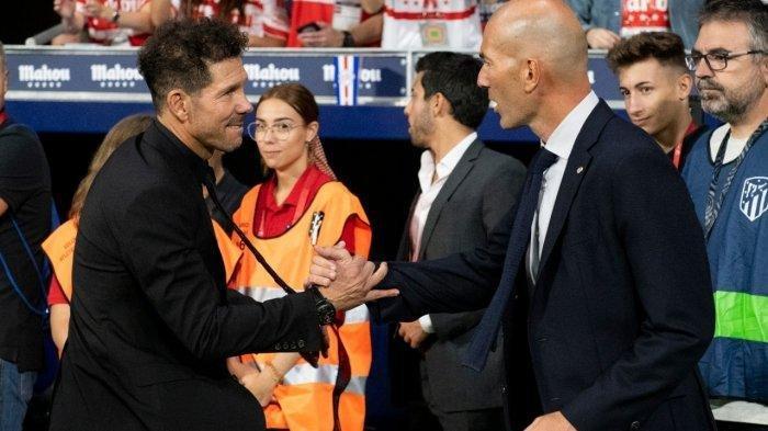Real Madrid vs Atletico Madrid Sabtu Ini, Kisah Panjang Rivalitas Zinedine Zidane vs Diego Simeone