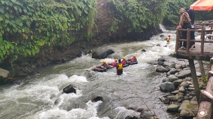 Rekomendasi Wisata Akhir Pekan Ini, Asyiknya River Tubing di Sungai Ciputri, Bayarnya Pun Murah