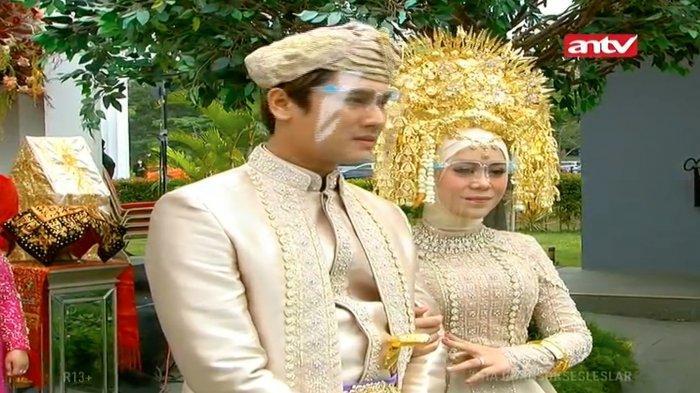 Rizky Billar dan Lesti di acara Manjalang Ka Rumah Mintuo