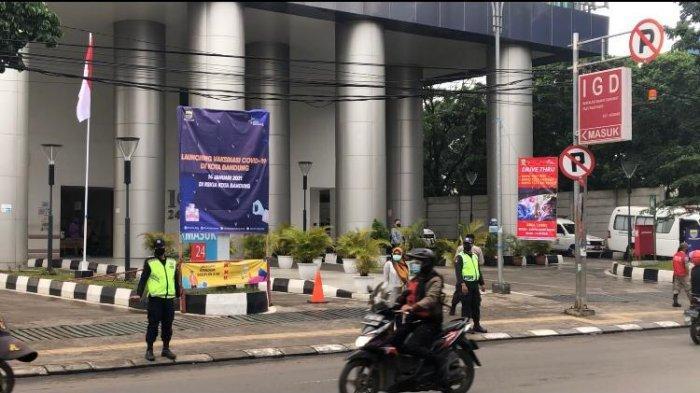 RSKIA Kota Bandung yang menjadi tempat perawatan pasien Covid-19 di Kota Bandung, Kamis (14/1/2021) pagi.