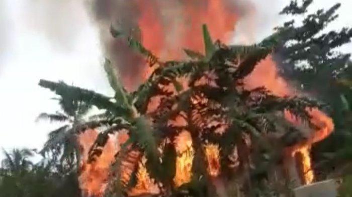 Api dari Tungku Merembet ke Bilik, Rumah Milik Janda Tua di Ciracap Sukabumi Habis Terbakar