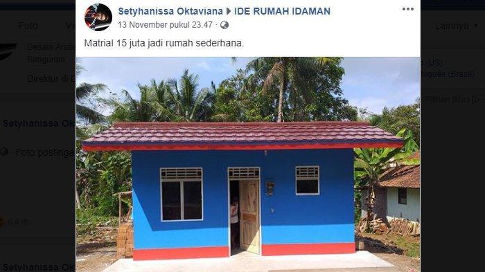 Viral, Rumah yang Dibangun Seharga Rp 15 Juta di Ciamis, Ternyata Begini Fakta Sebenarnya