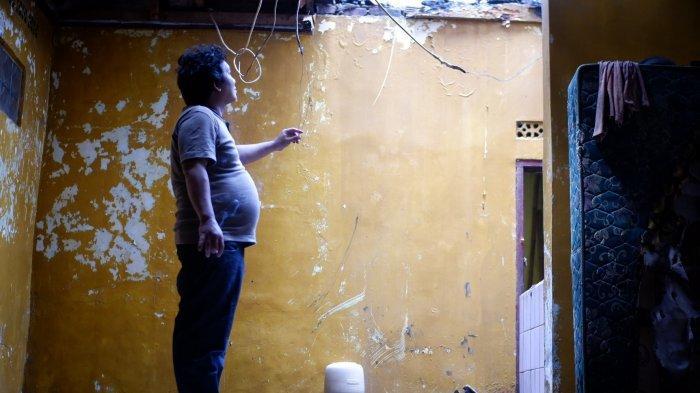 Saat Momen Lebaran, Rumah Pengemudi Ojol Ini Terbakar, Jadi Singel Parents,  Hidupi Dua Anak