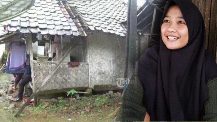 Rumah pelajar bernama Siti Nuraida (16) di Desa Cimanggu, Kecamatan Sumur, Kabupaten Pandeglang, Rabu (7/4/2021), tampak reyot dan lapuk. Aida sejak usia tiga tahun sudah ditinggal ibundanya yang meninggal dunia dan ayahnya yang menikah lagi.