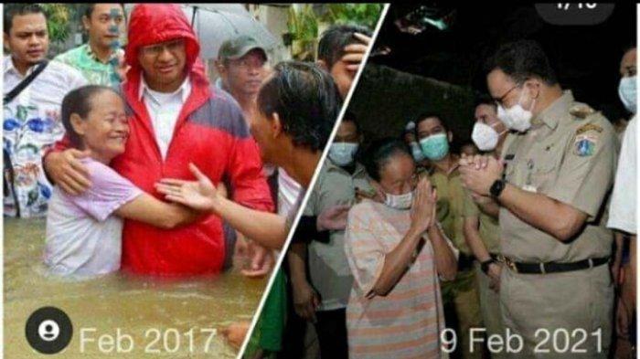 Ini Rumiati, Ibu-ibu yang Viral Karena Pamer Cipinang Tak Banjir Bersama Anies, Trauma Banjir Lagi