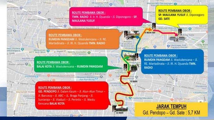 Ini Rute Kirab Obor Asian Games 2018 di Kota Bandung Akhir Pekan Ini