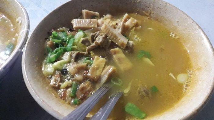 Soto Babat Harga Goceng di Ujung Berung, Daging Babatnya Empuk dan Kuahnya Gurih Beraroma Rempah