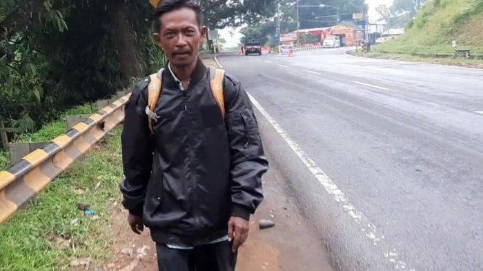 Bukan Prank Ala Dani dan Masitoh, Pria Ini Benar-benar Mudik Jalan Kaki, dari Ciamis ke Sumedang