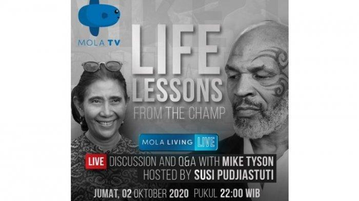 LINK LIVE STREAMING Bincang-bincang Susi Pudjiastuti dengan Petinju Legendaris Mike Tyson