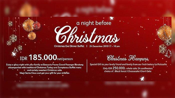 Sambut Malam Natal, Prama Grand Preanger Hotel Ajak Anda Nikmati Menu Eksklusif dan Kue Spesial