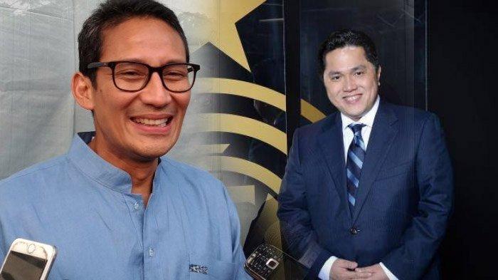 Kecil Kemungkinan Sandiaga Uno Jadi Pejabat BUMN, Kata Erick Thohir
