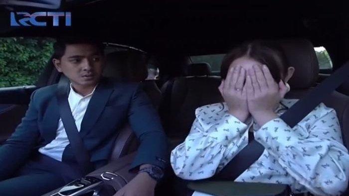 Satu adegan di sinetron Ikatan Cinta yang tayang pada Jumat (12/3/2021), saat Aldebaran dan Andin ngobrol di dalam mobil.