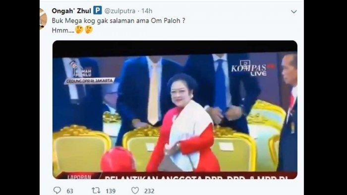 Kata Surya Paloh Setelah Megawati Ngabalieur di Hadapannya saat Pelantikan Anggota DPR RI
