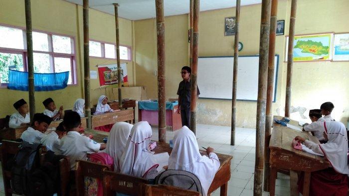 Antisipasi Pengamanan KBM di SD Cigorowong 3, BPBD  Kabupaten Tasikmalaya Siapkan Tenda Besar