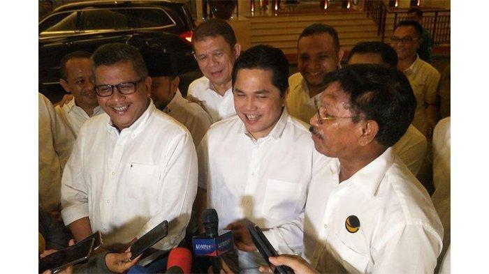Ini Bahasan dalam Pertemuan Erick Thohir dan Para Sekjen Parpol Pendukung Jokowi-Maruf