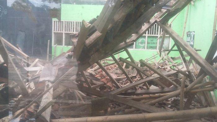Dampak Gempa Bumi di Sukabumi Siang Tadi, Satu Bangunan di Satu SMA di Waluran Ambruk