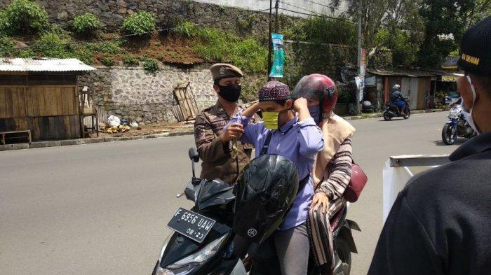 Selama Libur Panjang Cuti Bersama, 439 Orang Terjaring Razia Masker di Kota Sukabumi