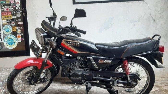 Salah satu motor Yamaha RX King yang masih orisinil di Jakarta