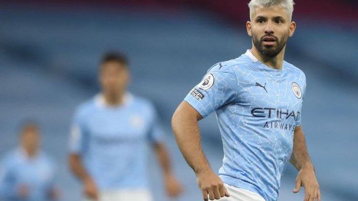 Sergio Aguero, striker Manchester City,
