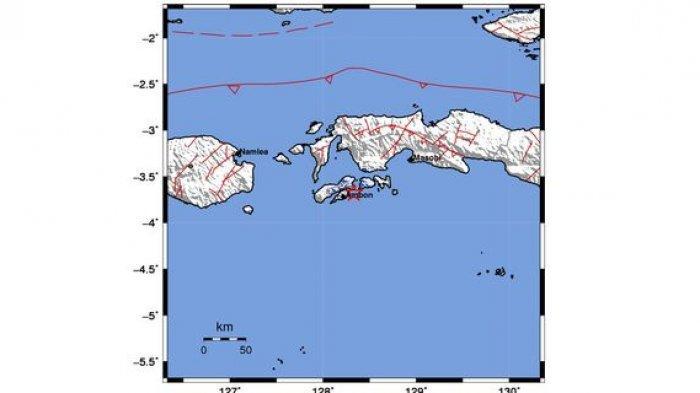 Gempa Bumi Baru Saja Terjadi, Ambon Diguncang Gempa Magnitudo 3,7