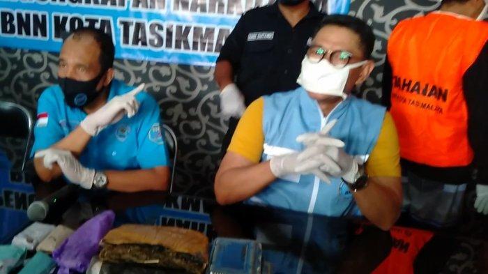 Sita 1,25 Ganja Kering, BNN Kota Tasikmalaya Tangkap Bandar dan Pengedar Narkoba