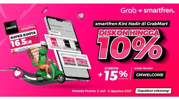 Smartfren kini hadir di GrabMart