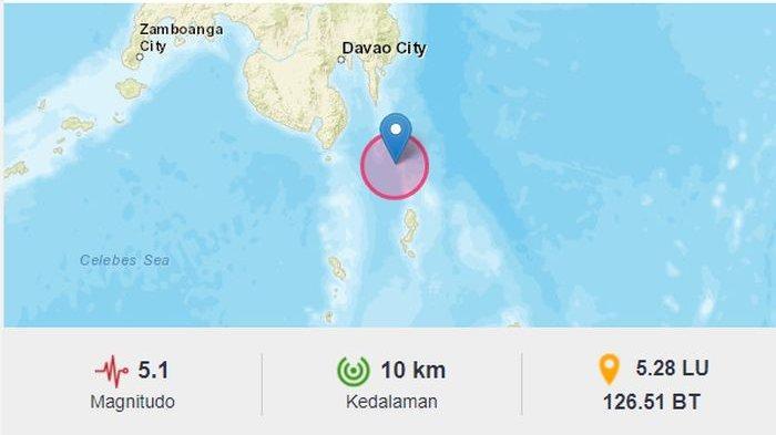 Baru Saja Sore Ini, Gempa Bumi Melanda Melonguane Sulut, BMKG pun Laporkan Gempa di Trenggalek Jatim