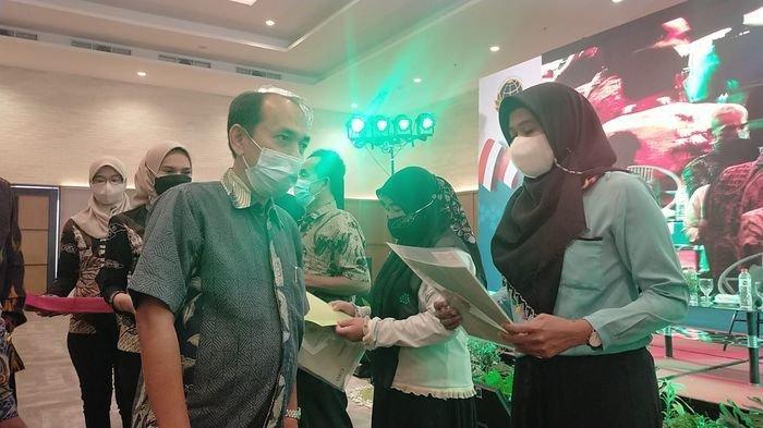 Sosialisasi Pendaftaran Tanah Sistematis Lengkap (PTSL) yang digelar Badan Pertanahan Nasional (BPN) di Hotel Cordela, Kuningan, Minggu (12/9/2021).