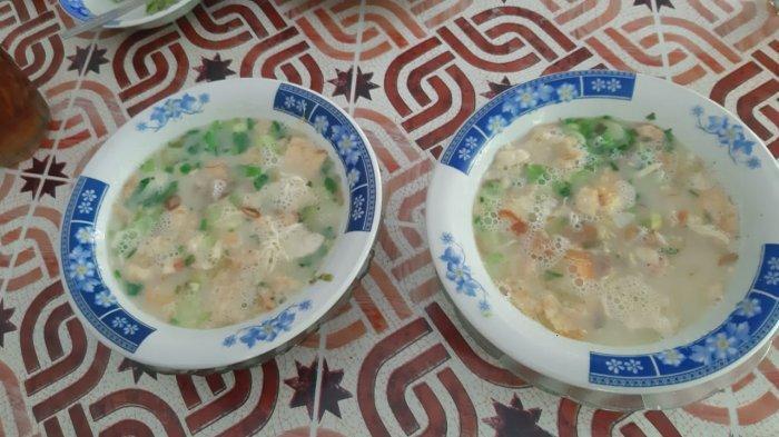 Sajian soto daging di Soto Sadang Lama, Sadang, Purwakarta.