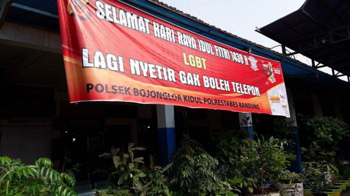 Ngakak, Spanduk-spanduk Unik Imbauan Keselamatan Bertebaran di Leuwipanjang