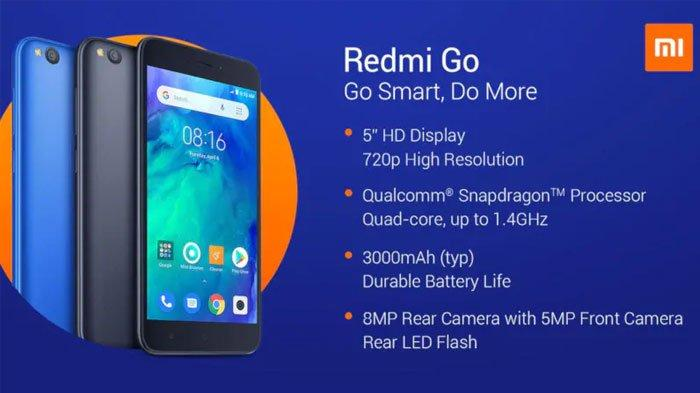 Spesifikasi Xiaomi Redmi Go - Smartphone Harga Rp 1 Jutaan yang Dibekali Sistem