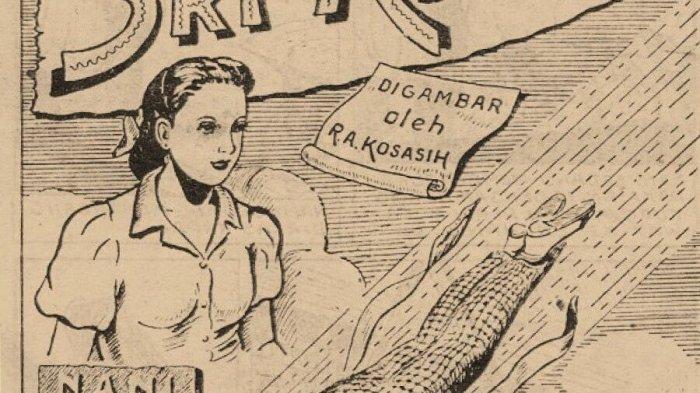 Tampilan perdana komik Sri Asih pada 1 Januari 1954