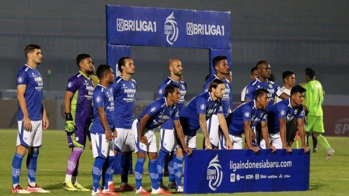 Starting eleven Persib Bandung kontra Barito Putera di laga perdana Liga 1 2021/2022.