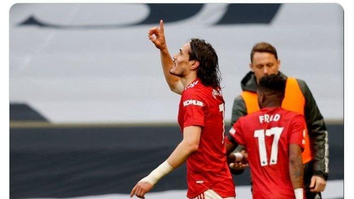 Hasil Liga Eropa, Manchester United Bantai AS Roma, Edinson Cavani dan Bruno Fernandes Cetak Brace