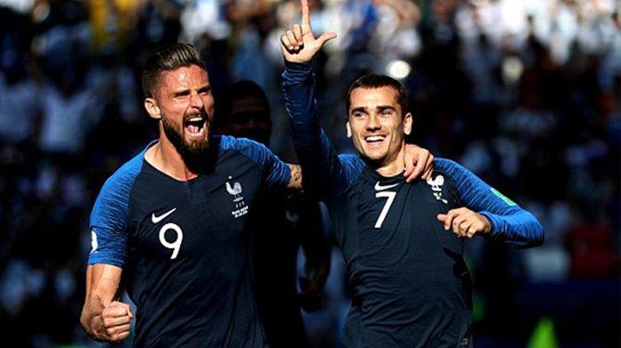 Ekseskusi Penalti Antoine Griezmann Buat Prancis Unggul Sementara 1-0 atas Argentina